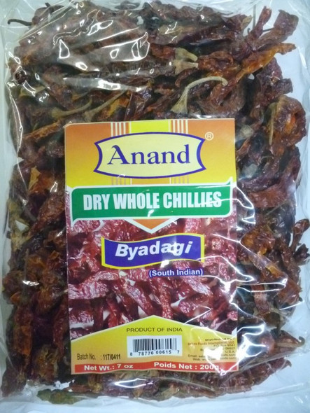 Red Chilli Whole Byadgi 7oz - Anand