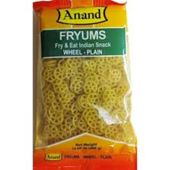 Anand Wheel Fryums - Plain 400g