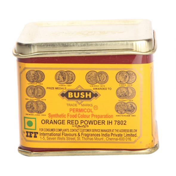 Bush Orange Red Food Color 100g