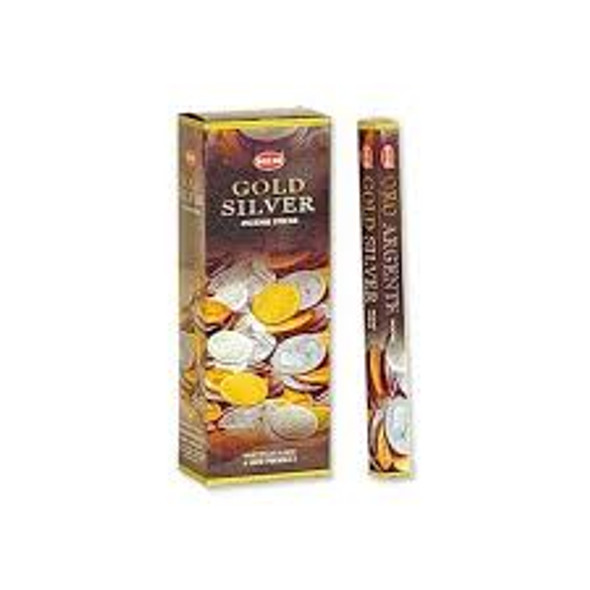 Agarbathi HEM - Gold Silver (6 Pack)