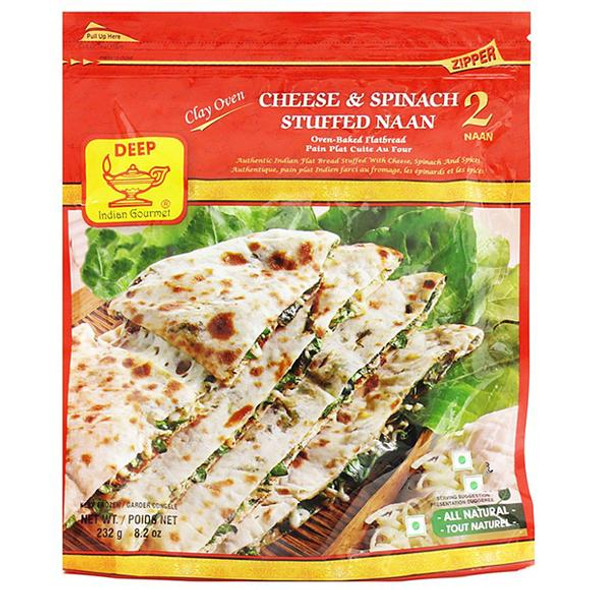 Deep Frz Cheese & Spinach Naan 2Pc