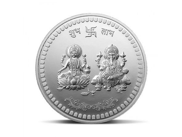 Ganesh/Lakshmi Gold Plated Silver Coin 10g