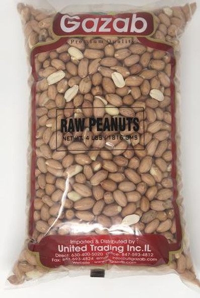 Gazab Jumbo Raw Peanuts 4lb