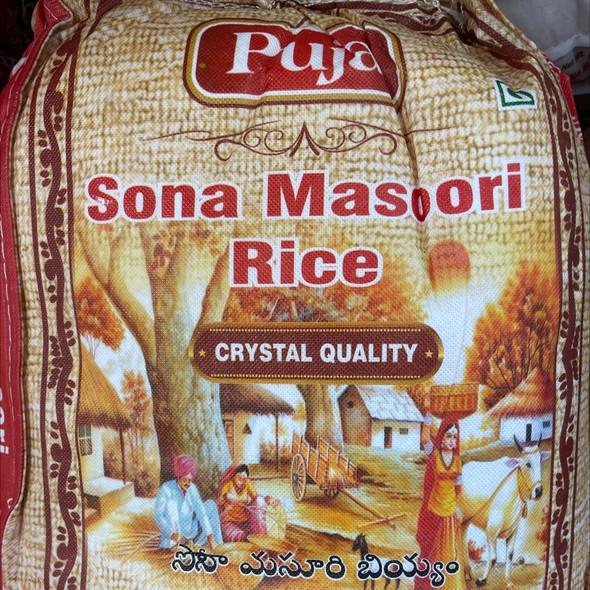 Puja Crystal Sona Masoori 20lb