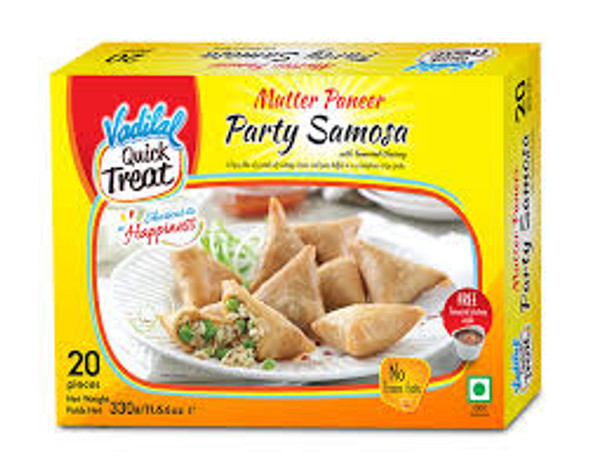 Vadilal Frz Samosa Mutter Paneer - Party Pack 20Pc