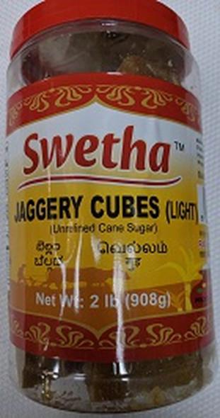 Swetha Jaggery Cubes Light 2lb (Pet Jar)