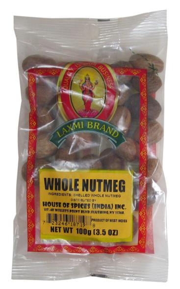 Nutmeg Whole 3.5oz - Laxmi