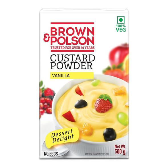 Brown & Poulson Custard Powder 500g