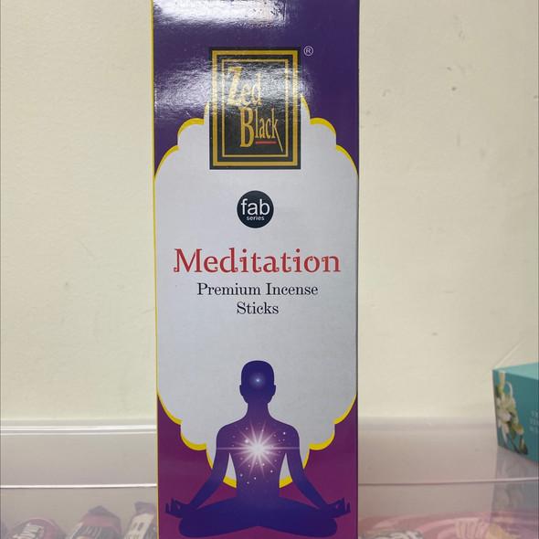 ZED Black Meditation Incense Sticks (6 Pack)