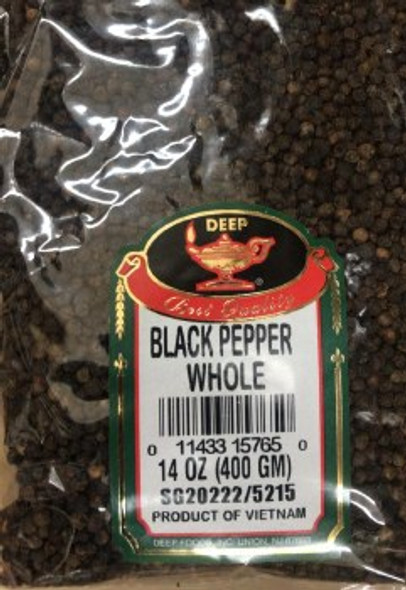 Black Pepper Whole 14oz - Deep