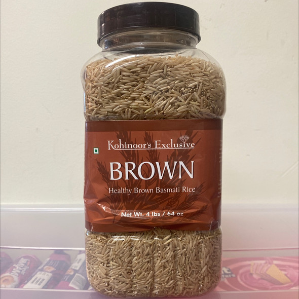 Kohinoor Basmati Brown 4lb (Jar)