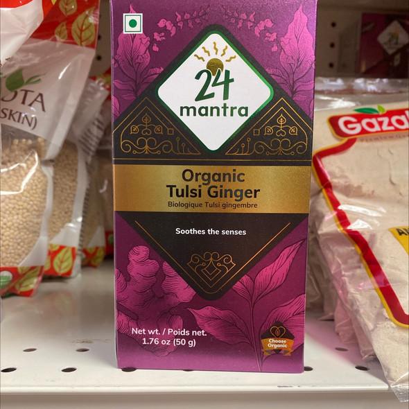 24 Mantra Tulsi Ginger Tea 1.75oz