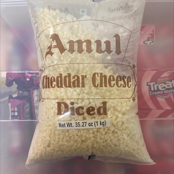 Amul Cheddar Cheese Diced 2.2lb