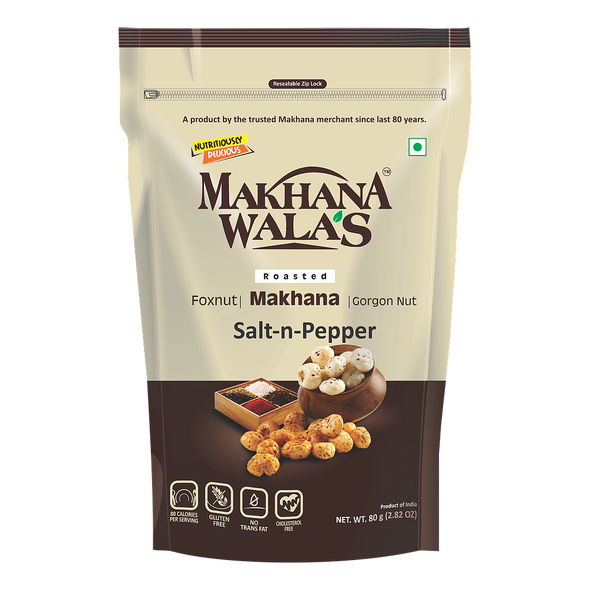 Makhana Wala's Salt & Pepper Makhana 60g