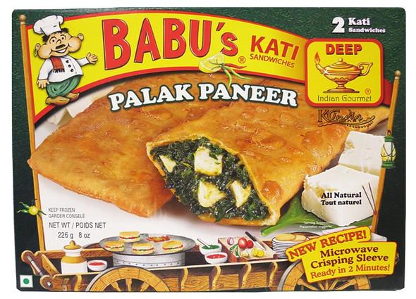 Babu's Frz Palak Paneer Kati Pockets