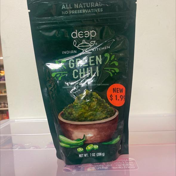 Deep Frz Green Chilli Cubes 7oz
