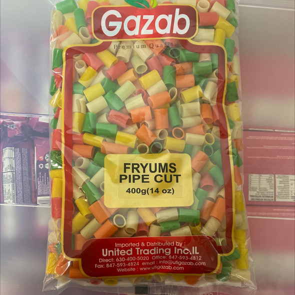 Gazab Color Fryums Pipe Cut 400g