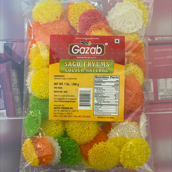 Gazab Sago Fryums Color 400g
