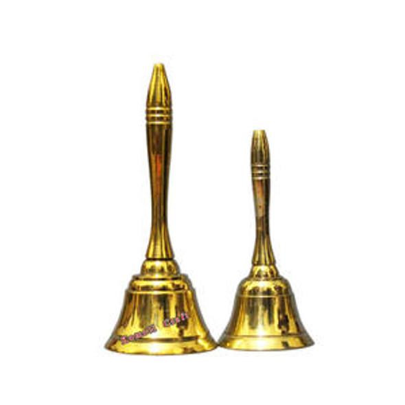Brass Pooja Bell Plain Handle