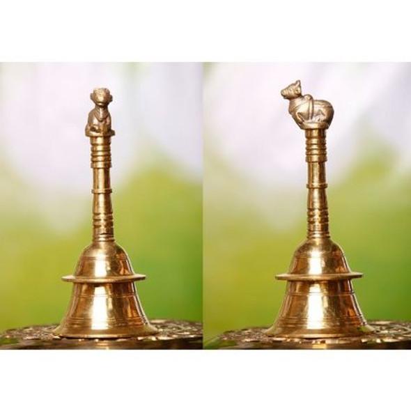 Brass Pooja Bell Fancy Handle