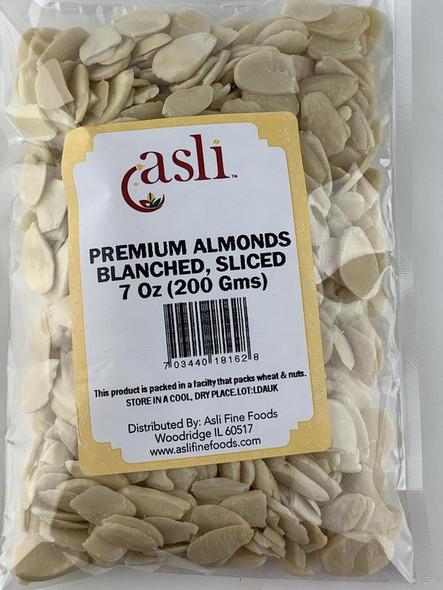 Asli Almonds Blanched Sliced 7oz