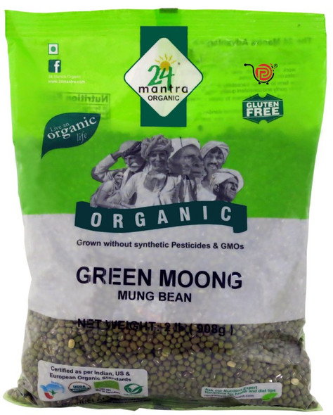 24 Mantra Moong Green Whole 2lb