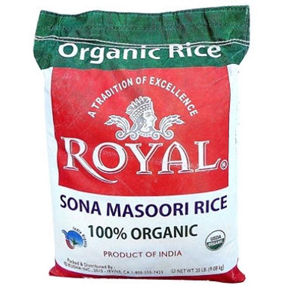 Royal Organic Sona Masoori 20lb