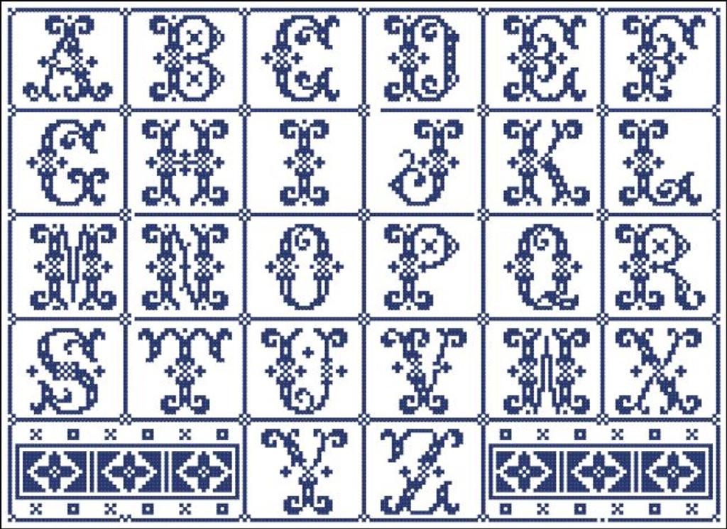 Vintage Alphabet Curly 603111