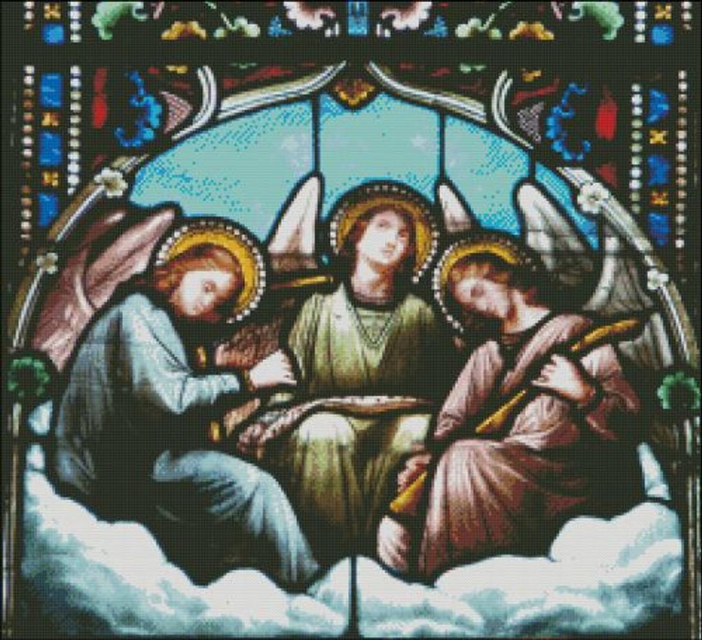Church Window: Three Angels
