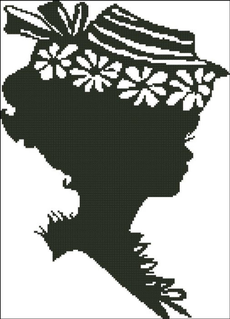 Ladies Hat Silhouette 006