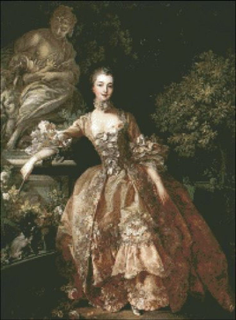 Madam Pompadour Orange Gown