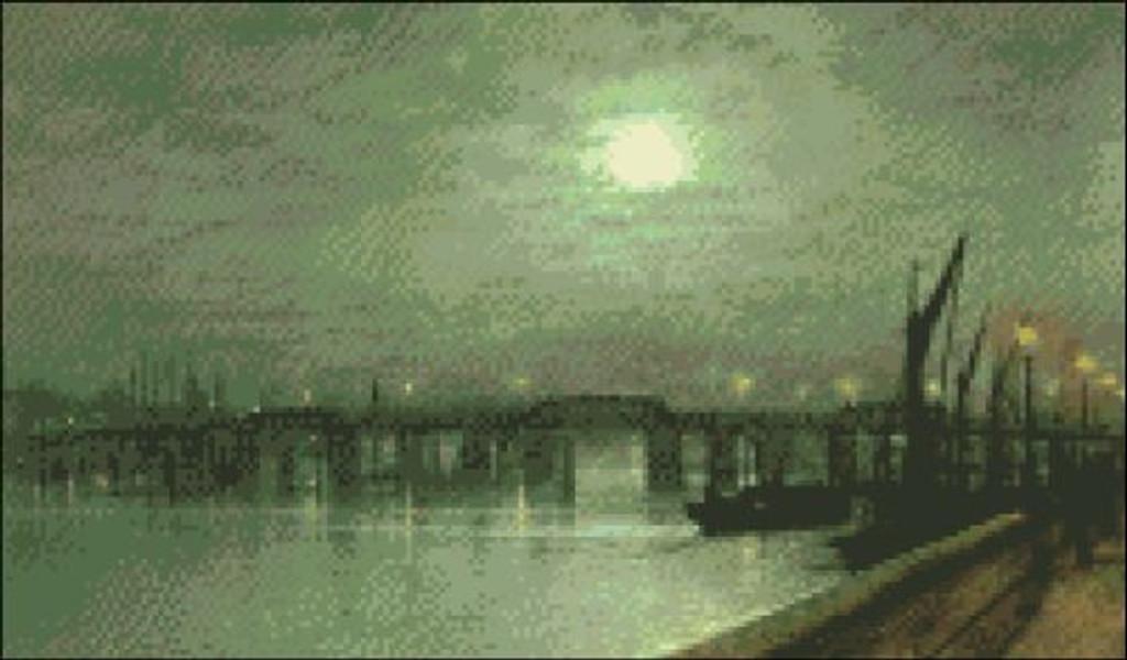 Battersea Bridge by Moonlight