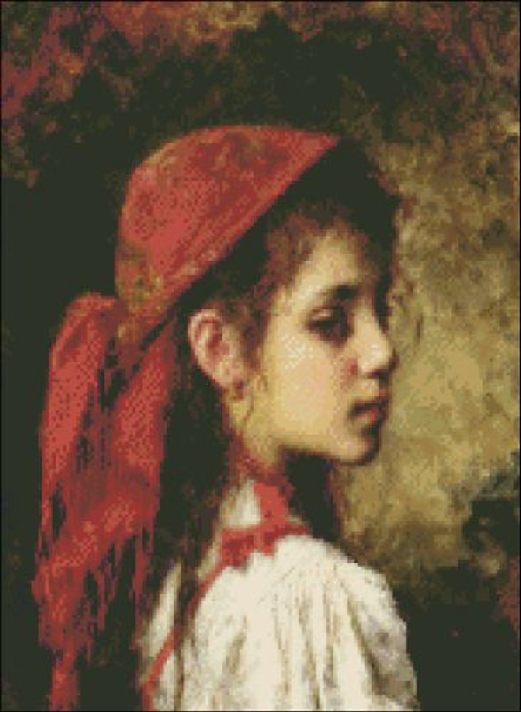 Portrait of a Young Girl with Red Kerchief