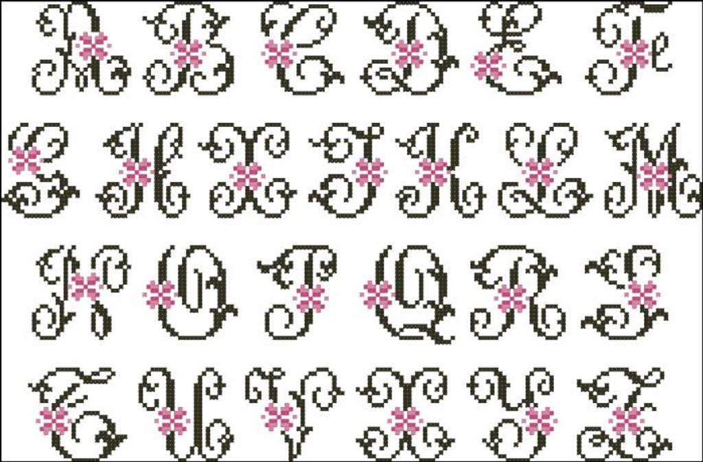 Floral Pink Alphabet