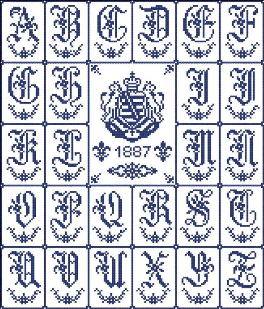 Alphabet Sampler Laurel