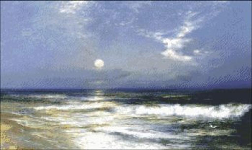 Moonlit Seascape (Detail)