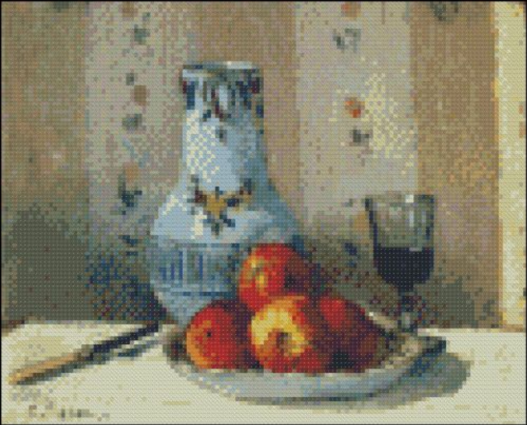 Still Life with Apples and Pitcher