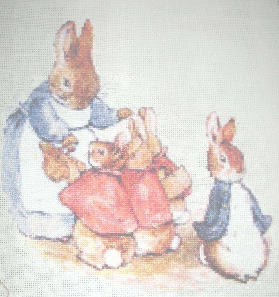 Mrs. Rabbit and Bunnies Peter Rabbit