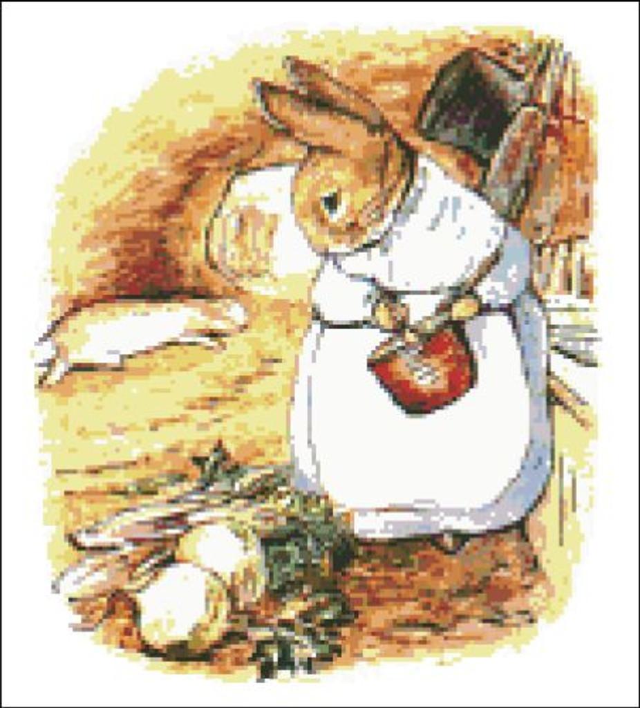 Mrs. Rabbit Cooks Dinner Peter Rabbit