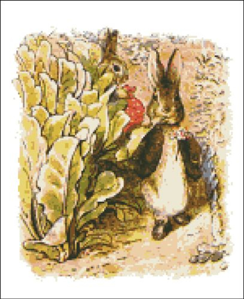 Benjamin and Peter Rabbit in the Lettuce Patch