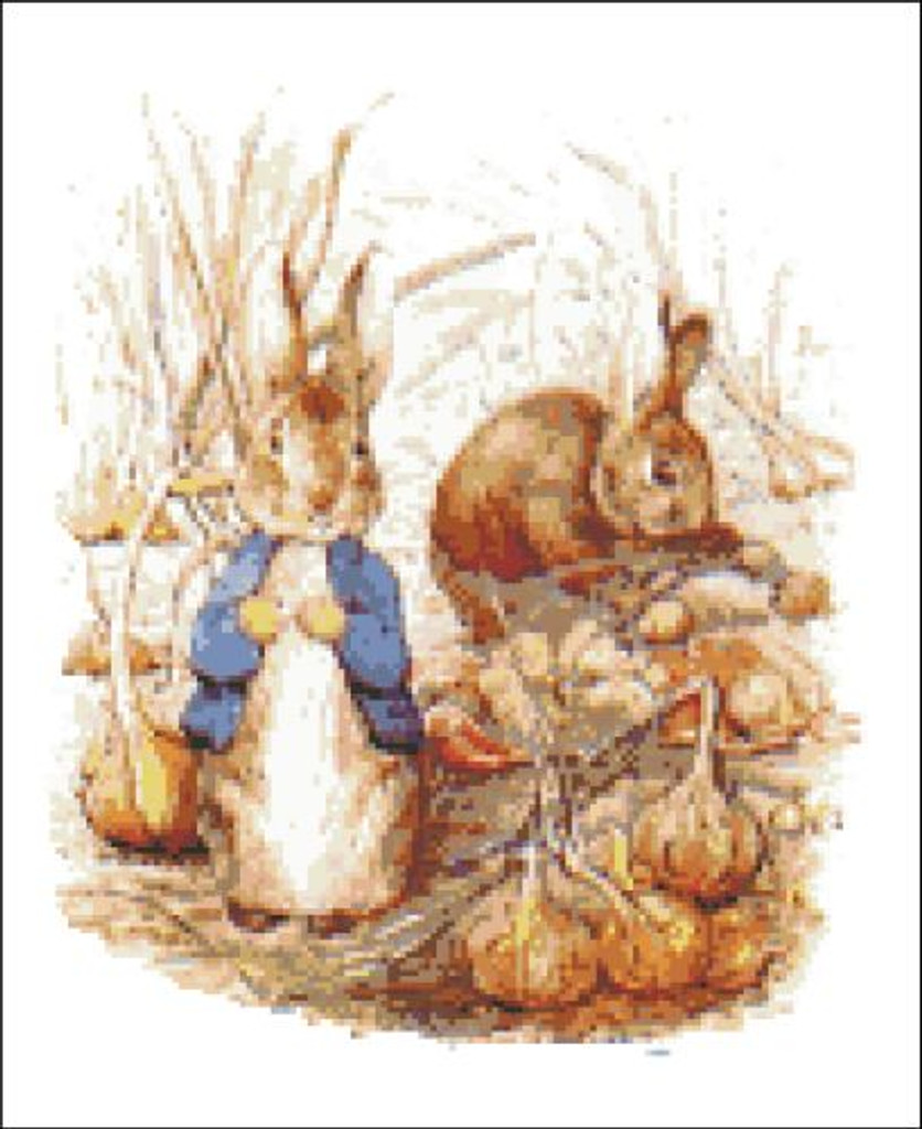 Benjamin and Peter Rabbit in the Onion Patch
