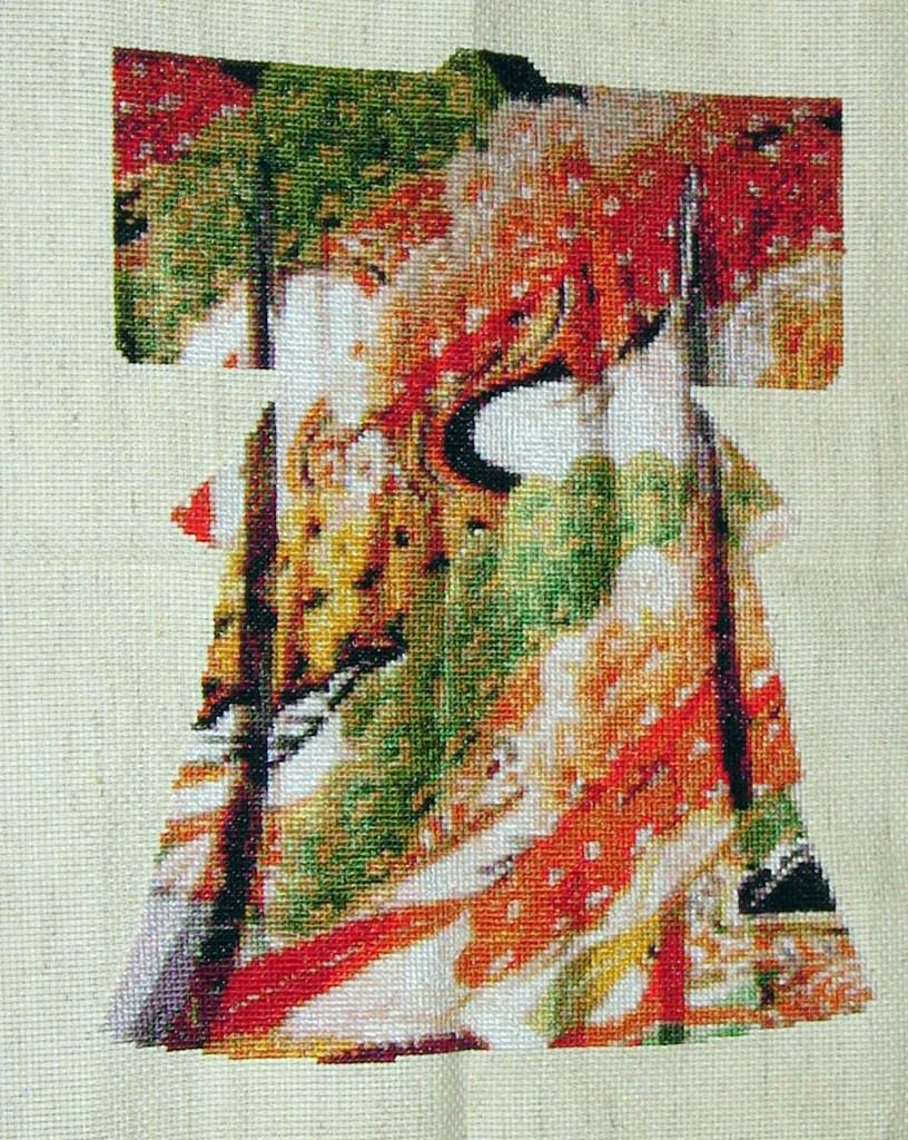 Japanese Kimono Cross Stitch Collection