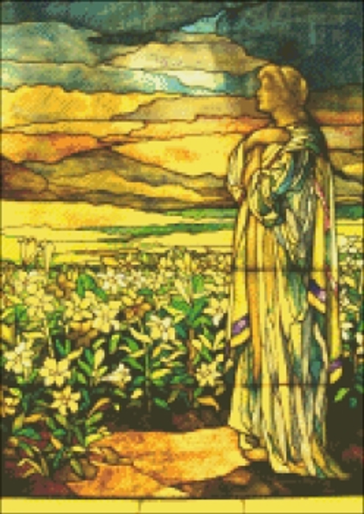 Field of Lilies Stained Glass
