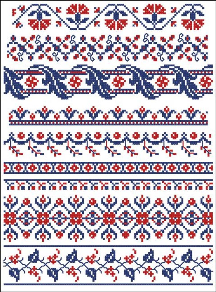 Border Motifs 005 Floral Pinoystitch
