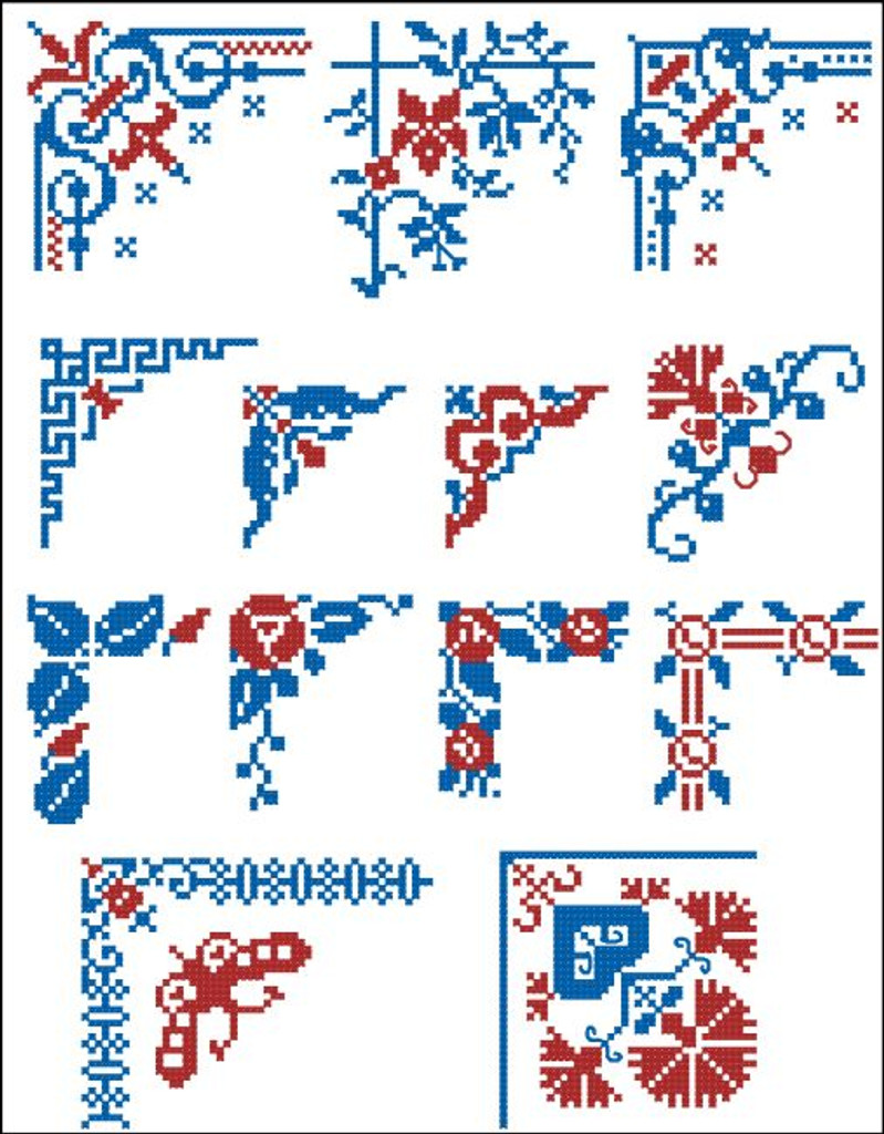 Border Motifs 010 Corners (Floral)