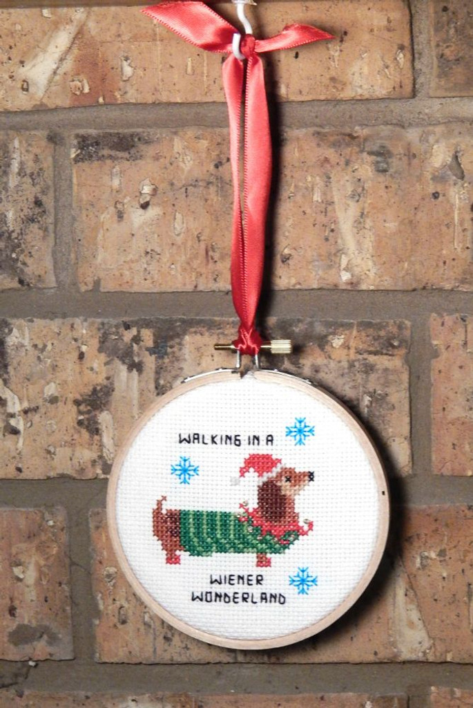 Dachshund Wiener Wonderland Cross Stitch Pattern PDF