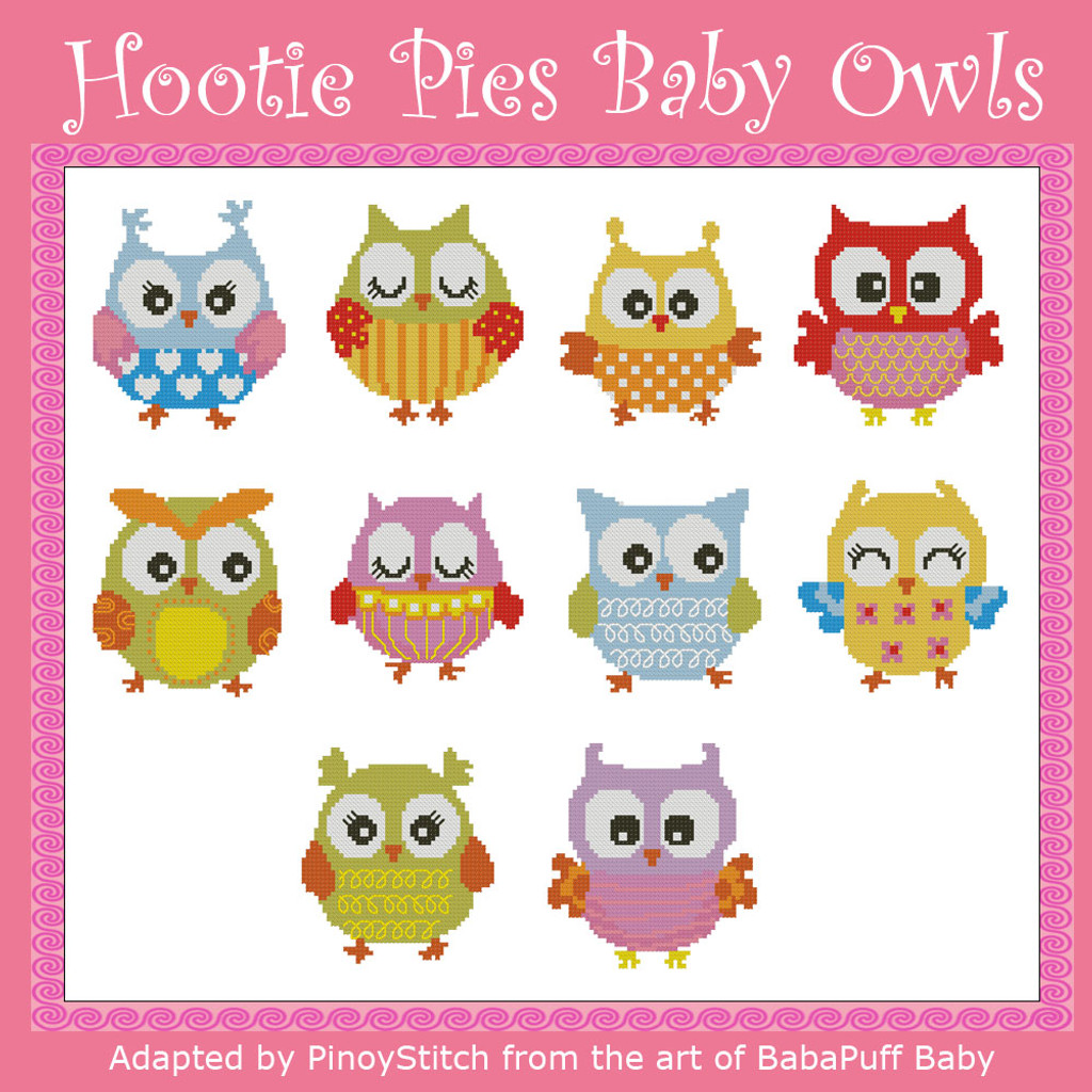 Hootie Pies Baby Owls Mini Collection