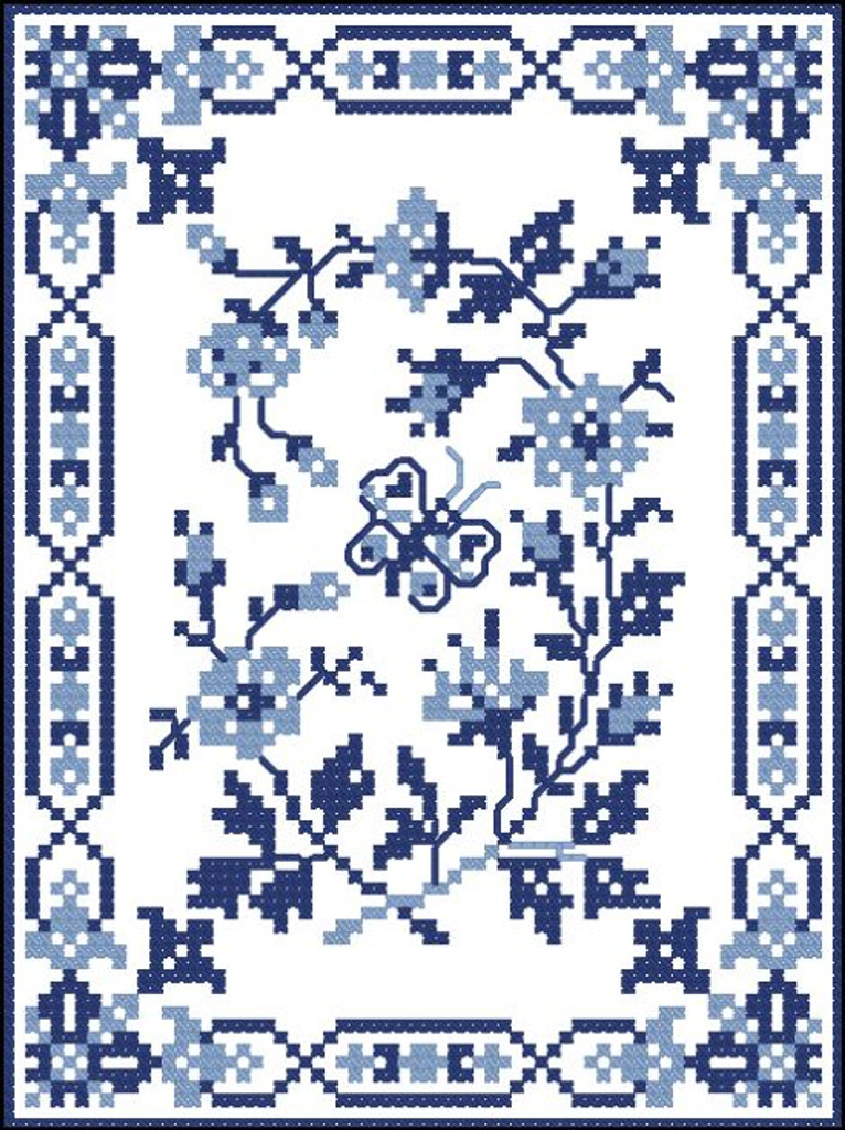 Vintage Blue Butterfly