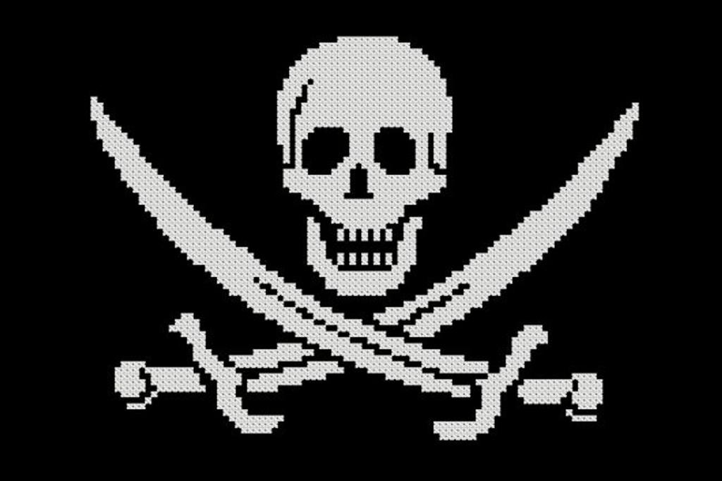 Pirate Symbol - Skull and Sword