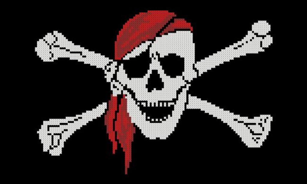 Pirate Symbol- Skull Red Bandanna